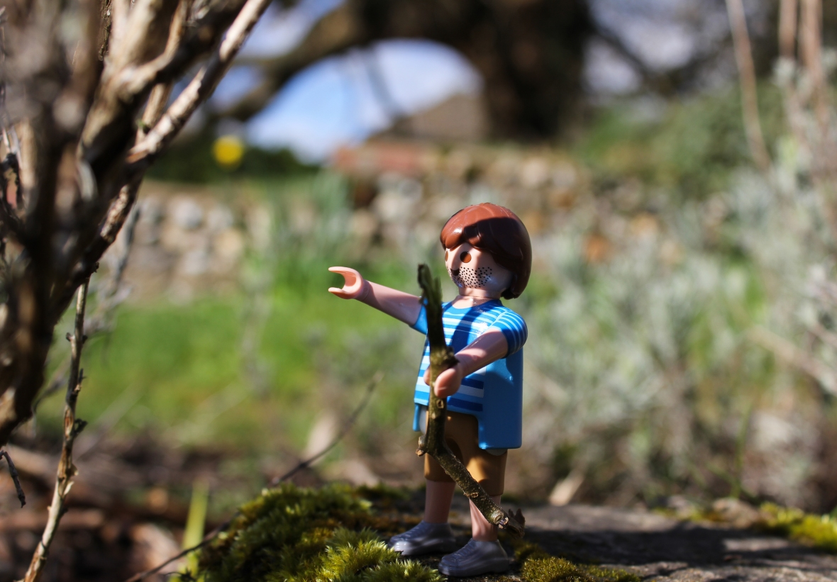 camping preparation photo of a small male toy